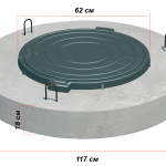 Крышка колодца круглая ППЛ 15-1