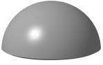 Антипарковочная бетонная полусфера Ø 400 мм h=200 мм