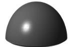 Антипарковочная бетонная полусфера Ø 400 мм h=250 мм